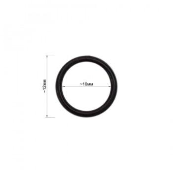 Кольцо для нижнего белья, пластик, 10мм, цвет черный