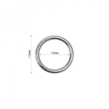 Кольцо для нижнего белья, металл, 10мм, цвет никель