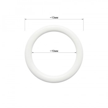 Кольцо для нижнего белья, металл, 10мм, цвет белый