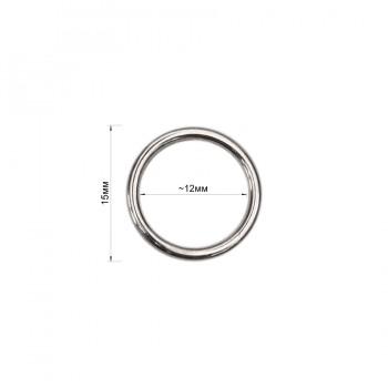Кольцо для нижнего белья, металл, 12мм, цвет никель