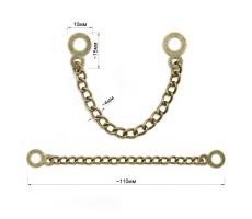 Вешалка цепочка для одежды металлическая