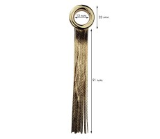 Люверс(блочка) металлический с цепочкой