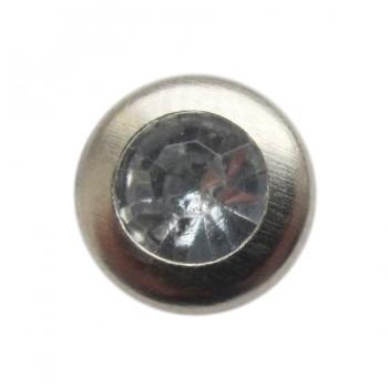 Хольнитен металлический, заклепка для одежды, 7.5мм, цвет никель+камень