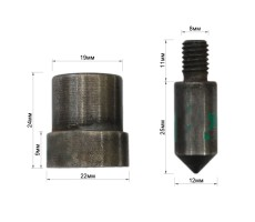 Матрица-пробойник на блочку 10561ЛЮ (6х12х4 мм)