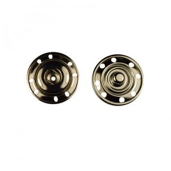 Кнопка металлическая, пришивная,22мм цвет никель