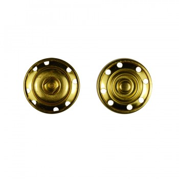 Кнопка металлическая, пришивная,22мм цвет золото