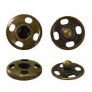 Кнопка металлическая, пришивная,10мм цвет антик