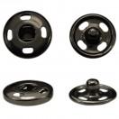 Кнопка металлическая, пришивная,10мм цвет черный