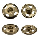 Кнопка металлическая, пришивная,10мм цвет никель
