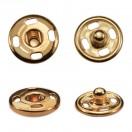 Кнопка металлическая, пришивная,10мм цвет медь