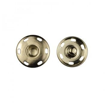 Кнопка металлическая, пришивная, 21мм цвет никель