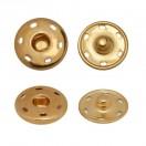 Кнопка металлическая, пришивная, 21мм цвет золото