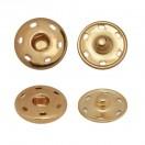Кнопка металлическая, пришивная, 23мм цвет  медь