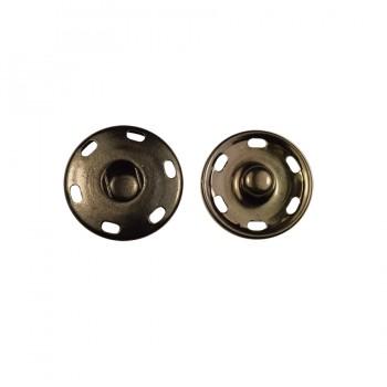 Кнопка металлическая, пришивная,19мм цвет оксид
