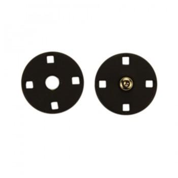 Кнопка металлическая, пришивная,10мм цвет черный тач