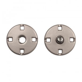 Кнопка металлическая, пришивная,10мм цвет матовый никель