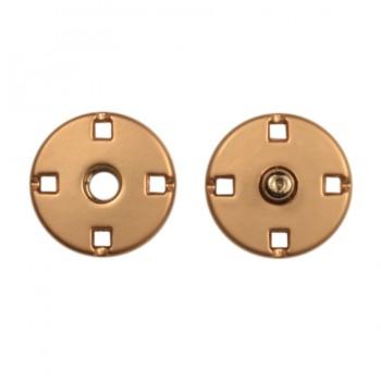 Кнопка металлическая, пришивная,10мм цвет матовое золото