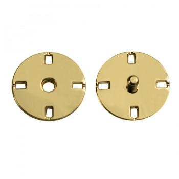 Кнопка металлическая, пришивная,15мм цвет золото