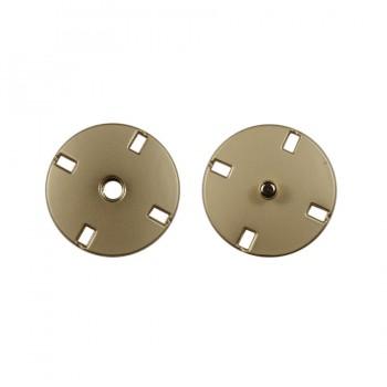 Кнопка металлическая, пришивная,23мм цвет матовый никель