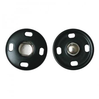 Кнопка металлическая, пришивная,18мм цвет черный+никель