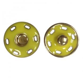 Кнопка металлическая, пришивная,23мм цвет золото+желтый