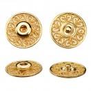 Кнопка металлическая, пришивная,23мм цвет золото