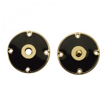 Кнопка металлическая, пришивная,22мм цвет золото+черный