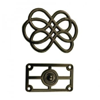Кнопка установочная металлическая, 35*45мм цвет оксид