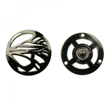 Кнопка установочная металлическая, 35*35мм цвет оксид