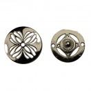 Кнопка установочная металлическая, 32*32мм цвет оксид