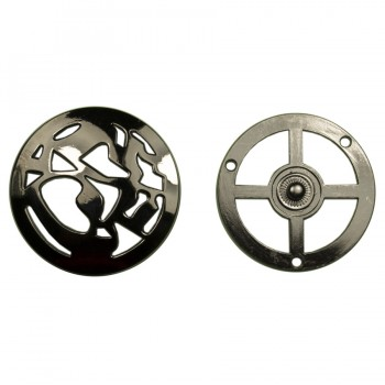 Кнопка установочная металлическая, 45*45мм цвет оксид