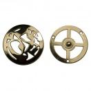 Кнопка установочная металлическая, 45*45мм цвет золото
