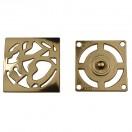 Кнопка установочная металлическая, 35*35мм цвет золото