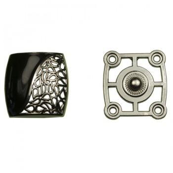 Кнопка установочная металлическая, 25*25мм цвет оксид