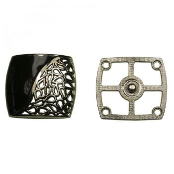 Кнопка установочная металлическая, 35*38мм цвет оксид