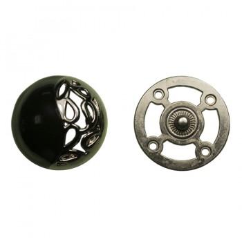 Кнопка установочная металлическая, 30*30мм цвет оксид