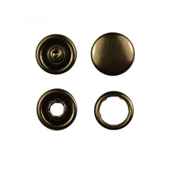 Кнопка установочная металлическая, 9мм цвет оксид