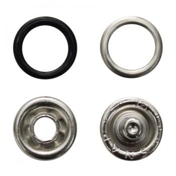Кнопка установочная металлическая, 9мм цвет черный
