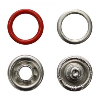 Кнопка установочная металлическая, 9мм цвет красный