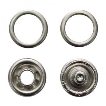 Кнопка установочная металлическая, 9мм цвет никель