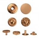 Кнопка установочная металлическая, 10мм цвет матовое золото