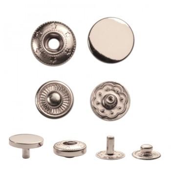 Кнопка установочная металлическая, 10мм цвет никель