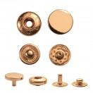 Кнопка установочная металлическая, 10мм цвет золото