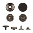 Кнопка установочная металлическая, 10мм цвет черный тач