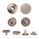 Кнопка установочная металлическая, 12,5мм цвет матовый  никель