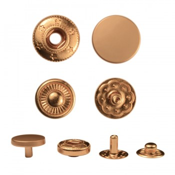 Кнопка установочная металлическая, 12,5мм цвет матовое золото