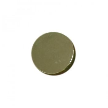 Кнопка установочная металлическая, 12,5мм цвет никель
