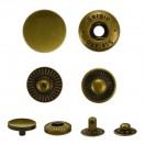 Кнопка установочная металлическая, 12,5мм цвет тертый антик