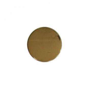 Кнопка установочная металлическая, 12,5мм цвет золото