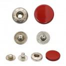 Кнопка установочная металлическая, 15мм цвет красный